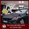 Guang Dian luz conduzida da luz interior do carro cúpula luz vaidade luva passo tronco carga kit lâmpada t10 festão para vol vo-s60 2001-2015