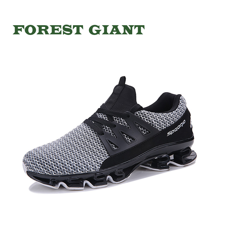 FOREST GIANT Summer Mesh Shoes Fashion Men Casual Shoes Breathable Man Lace up Shoes Plus Size 45,46 TK10 pinsen fashion women shoes summer breathable lace up casual shoes big size 35 42 light comfort light weight air mesh women flats