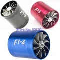 Azul/Vermelho/Preto Carro Supercharger F1-Z Turbo Air Intake Fan Dual Fuel Gas Saver Hélice Turbonator Ventilador Impulsionador