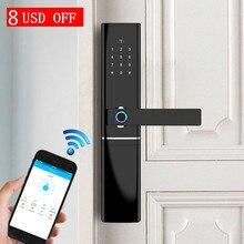 Smart Fingerprint Door Lock Security Intelligent Lock Biometric Electro