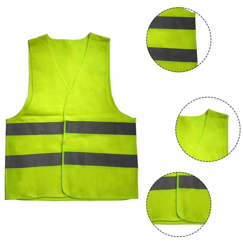 High Visibility Reflective Fluorescent Vest Outdoor Safety Clothing Running Contest Vest Safe Light-Reflective Ventilate Vest цена 2017