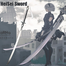 Cosplay NieR Automata YoRHa No.2 Type B 2B Sword Anime Game Real Katana 120cm Extended Edition Carbon steel Sharp Edge
