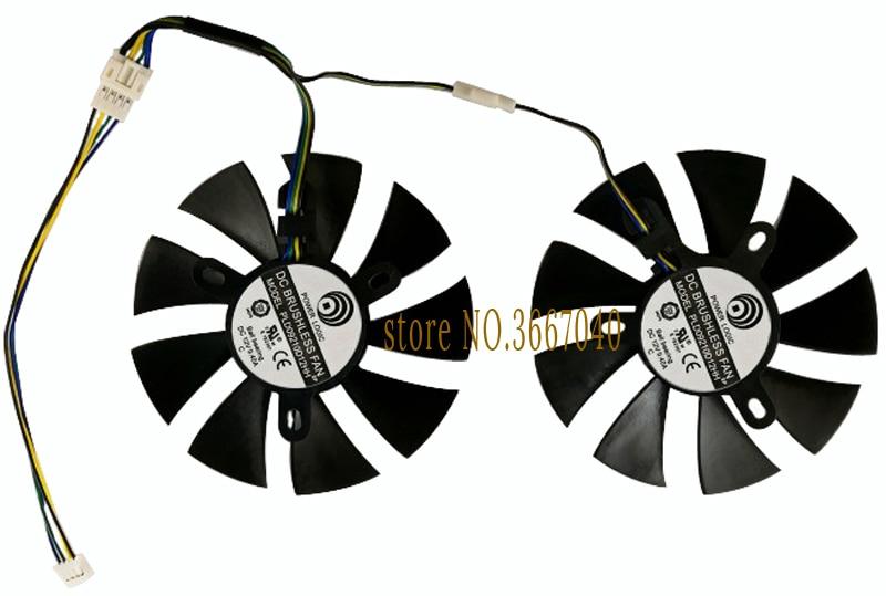 Computer VGA GPU cooling fan for ASUS ROG STRIX RX470 dual RX480 ROG Strix RX470 O4G for graphics card cooler fan 2pcs lot fd9015u12s 85mm 28x28x28x28mm 12v 0 55a with 5pins for asus strix gtx970 gtx980 graphics card cooler fan
