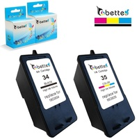 Đen + Color Ink Cartridges cho Lexmark 34 35 18C0034 18C0035 Máy In P4330 P4350 P6200 P910 X2500 X5070 X5075 X5250 X5270 X5470