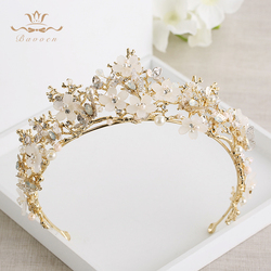 Bavoen Vintage Great Butterfly Bridals Tiaras Crowns Baroque Gold Brides Hairbands Wedding Hair accessories Prom Jewelry Gifts