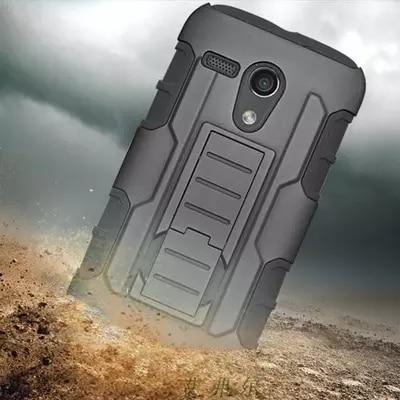 For Motorola New Bike Moto G XT1028/XT1031/XT1032 Future Armor Impact Holster Shockproof Hard Case Back Cover