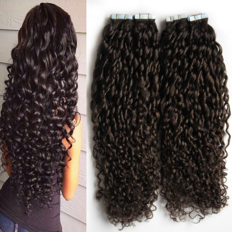 Tape in extensions on curly hair