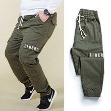 Большие размеры 6XL 7XL 8XL Мужские штаны с гарем карго модные штаны с буквенным принтом и эластичной резинкой на талии с большим карманом, мужские брюки