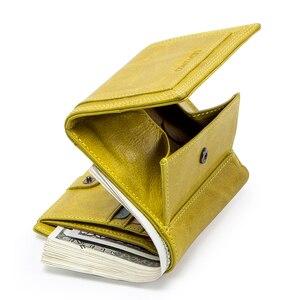 Image 2 - Свяжитесь с натуральная модный кожаный бумажник Женские портмоне маленький мешок денег кредитные карты держатель кошельки для женщин portfel damski