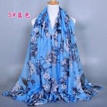 1 шт., длинный хлопковый шарф с принтом, 180 х90 см
