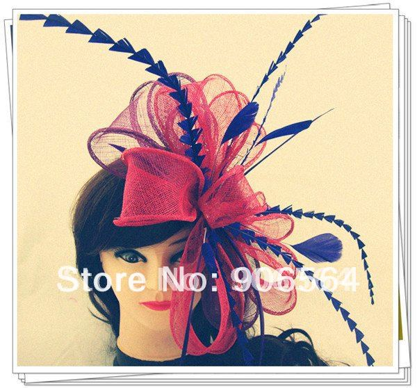 Elegant Sinamay Fascinator Hats  Bridal Wedding Hats High Quality Cocktail Hats Occasion Headwear Party Hairstyle Multiple Color