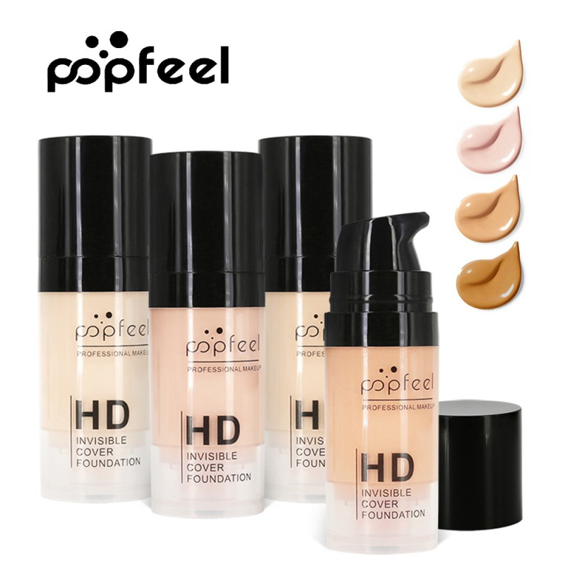 Face Makeup Base Face Liquid Foundation Matte Oil Control Concealer Liquid Easy To Wear Soft Carrying P+