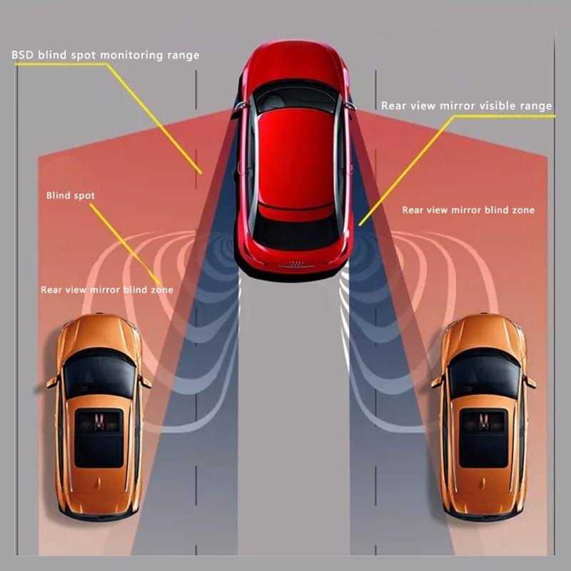 Sans frais de port Voiture Blind Spot Surveillance BSD BSA BSM Radar Système De Détection Micro-ondes Capteur Assistant Voiture D'entraînement De La Sécurité