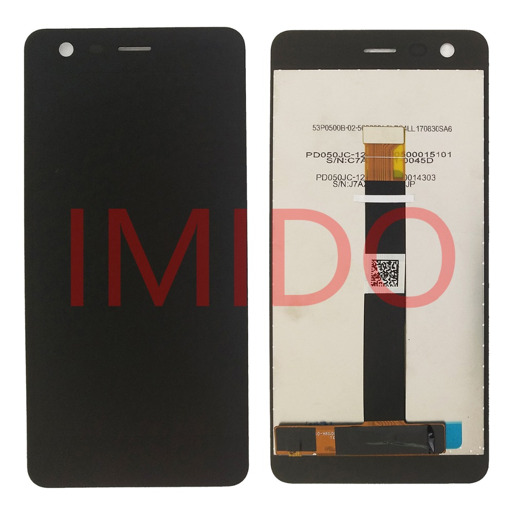 For Nokia 2 TA-1029 DS LCD Display+Touch Screen Digitizer Assembly+Frame Replacement Parts