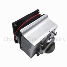 5PCS Free delivery aluminum heat sink cooling fan 20W 50W 100W high power LED lamp 80degree 44mm lens + reflective + bracket aluminum plate with 12v fan for high power led diy aluminium heat sink cooling fan driver for 50w 100w 150w 200w led light