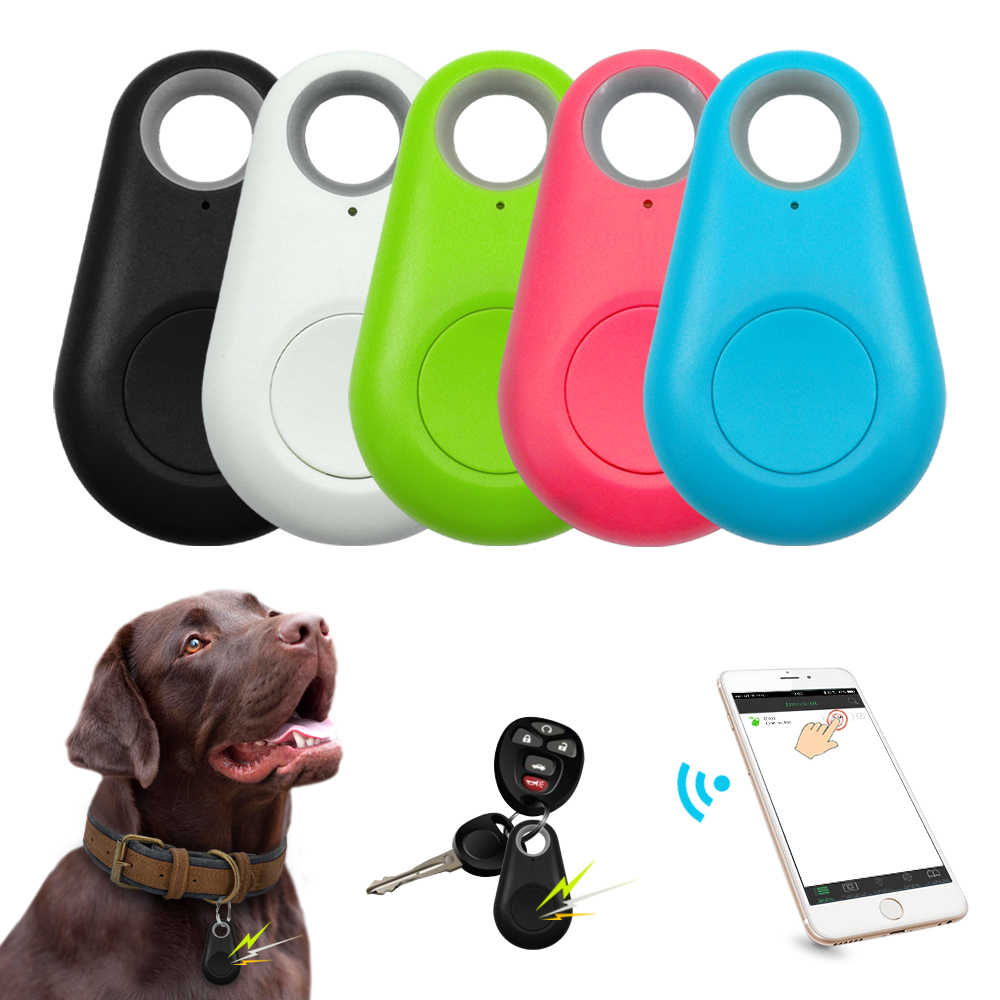 Hewan Peliharaan Smart GPS Tracker Mini Anti Hilang Tahan Air Bluetooth Locator Pelacak untuk Anjing Peliharaan Kucing Anak-anak Mobil Dompet Kunci kerah Aksesoris