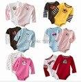New Real Do Corpo Do Bebê 0-24 Meses Romper frete grátis Para Crianças Crianças de Algodão roupas de Impressão Da Menina do Menino Cheio O-pescoço 5 pc/lote Unisex