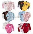 new Real Body Baby 0-24 Month free Shipping Romper Kids Children Cotton Print Boy Girl Full O-Neck clothes 5pc/lot Unisex