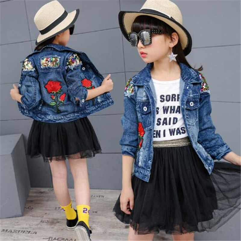 JMFFY Child Women Garments Denims Coat 2019 Lady Denims Jacket Denim Outerwear Kids's Clothes Spring Autumn Youngsters Outfits 4-13T ladies denims jacket, ladies jean jacket denim, coat woman,Low cost...