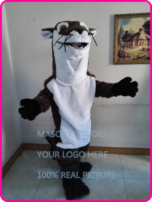 Haute qualité réaliste Otter mascotte adulte Costume banque castor rivière otter thème Anime Cosplay Fursuit Costumes fantaisie robe