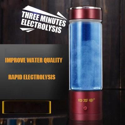 USB Hygrogen-rich Water Bottle Fast Electrolysis Hydrogen Generator Ionizer Cup Alkaline Water Maker 350ml Super Antioxidants wholesale lcd alkaline water ionizer