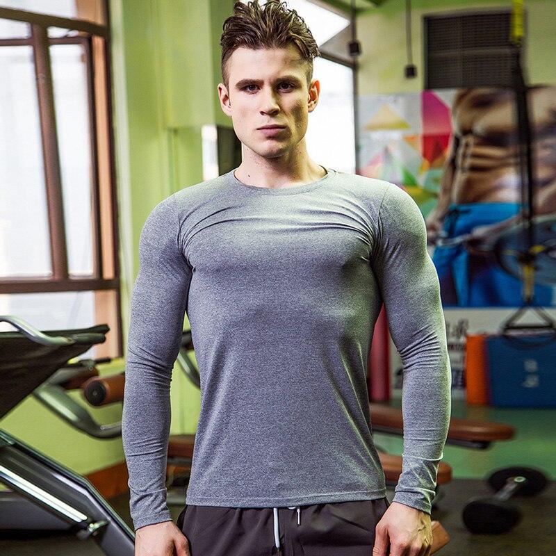 Yuerlian Dry Soccer Jerseys Compression Fitness Tights Gym Men Shirt Bodybuilding Sportswear Basketball Rashgard T-Shirt