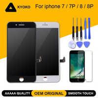 100% AAAAA OEM Schermo LCD Originale Per il iphone 7 7 Plus Screen 8 8 Più Display LCD Digitizer Touch Modulo sostituzione dello schermo