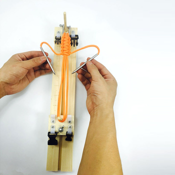 1 sztuk DIY nadgarstek Maker Jig bransoletka ekspres Paracord węzeł linka spadochronowa zegarek z plecionym paskiem tkactwo Maker bransoletka narzędzie dziewiarskie tanie i dobre opinie Paracord Bracelet Maker IQiuhike Wood 35cm