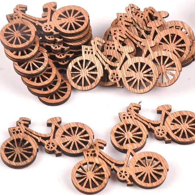 10pcs 49x29mm Brown Color Wood Slices Crafts For Handmade Scrapbooking Handicraft Wooden Ornament Sewing Accessories M1676