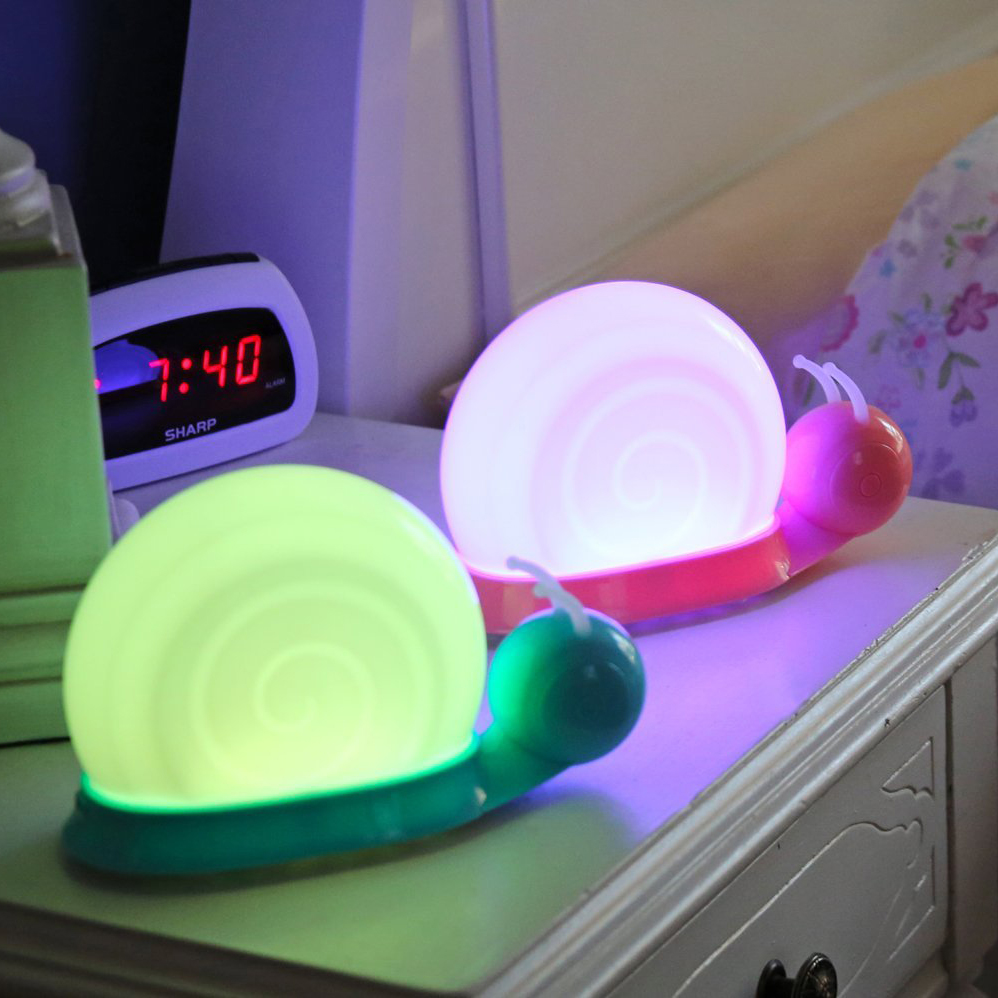 7 Color Changeable Night Light Snail Nightlight Table Lamp