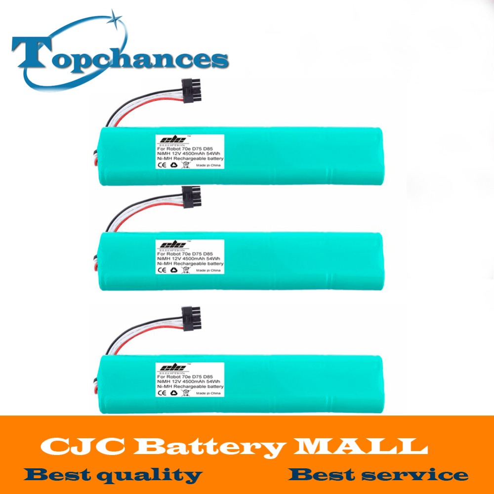 3PCS High quality NI-MH 12V 4500mAh Replacement battery for Neato Botvac 70e 75 80 85 D75 D8 D85 Vacuum Cleaner battery