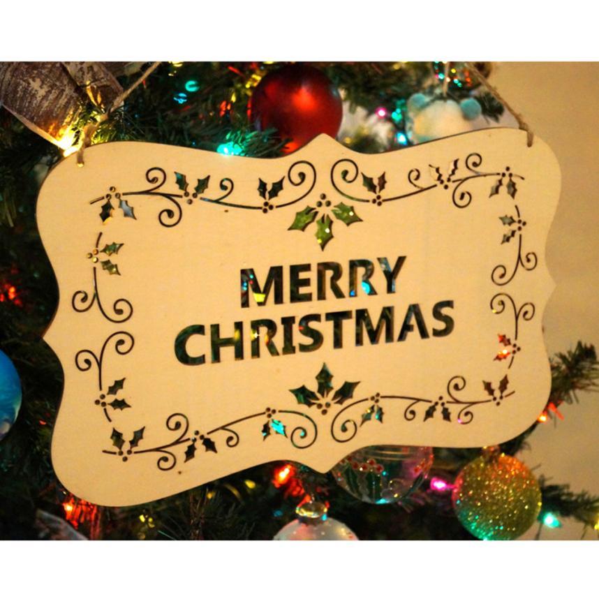 Hollow Christmas Tree Hanging Pendant Wooden Wall Hanging Christmas ...