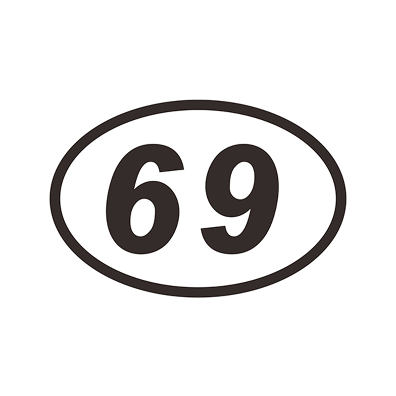 69 sixty nine oval number jdm vinyl car sticker decal sticker motocross in car stickers from automobiles motorcycles on aliexpress com alibaba group