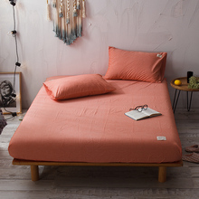 100% de cama doble de algodón de tamaño Queen, juego de sábanas, fundas de almohada 90/150/160X200 Tamaño ruso, Funda de colchón drap de lit