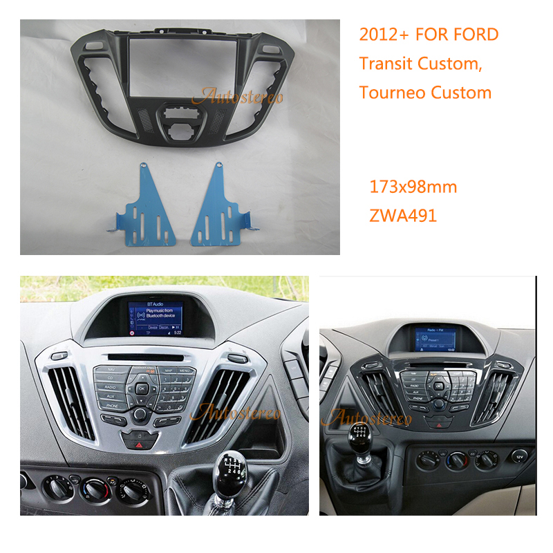 Car Radio fascia Adapter for FORD Transit Custom, Tourneo Custom 2012+