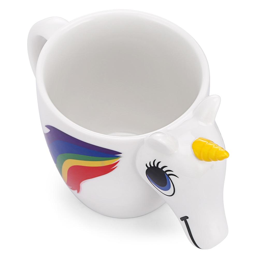 3D Unicorn Temperature Color Changing Ceramic Mug 300ML - Great Christmas Gift 2