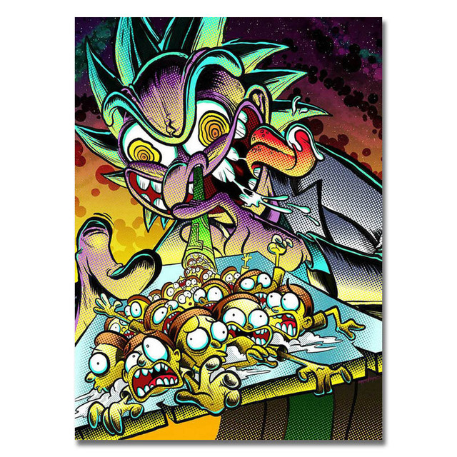 Rick And Morty Art Silk Poster Or Canvas Poster 13×18 16x22inch Cartoon Picture For Living Room Decor-006