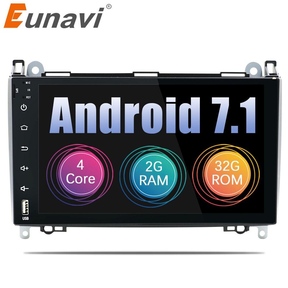 Eunavi 9 ''2 Din quad core Android 7,1 автомобилей Радио Стерео gps для Mercedes Benz Sprinter W906 VW Crafter вольт LT3 2006 2012 WI FI