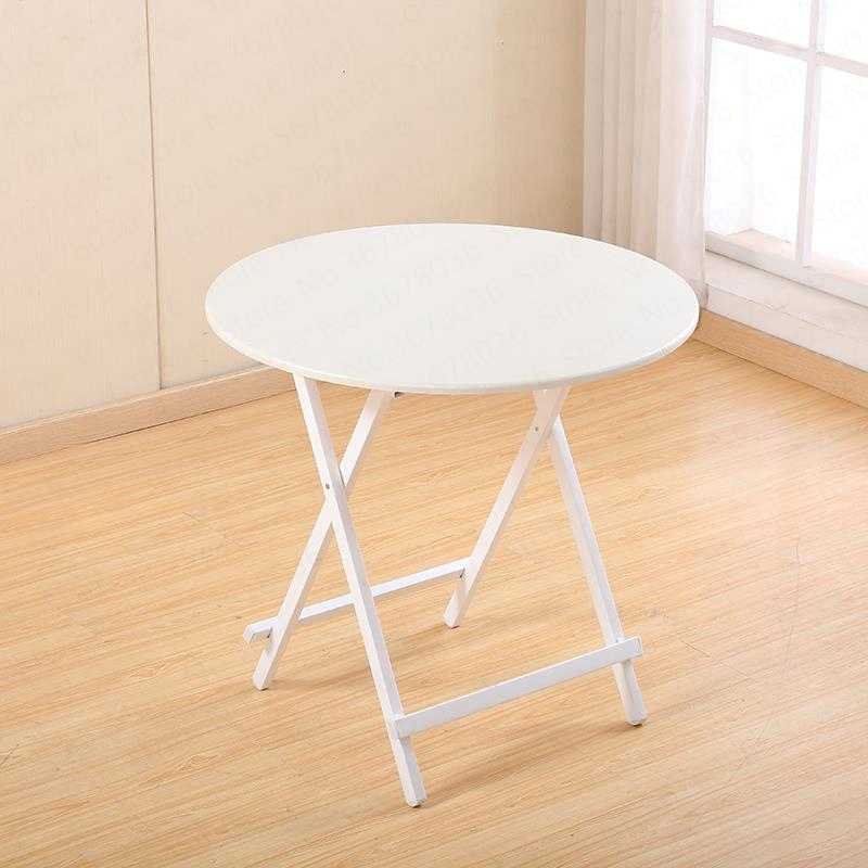 0%Folding Table Home Table Simple Outdoor Stall Table Small Apartment Round Rice Portable Small Balcony Dining Table