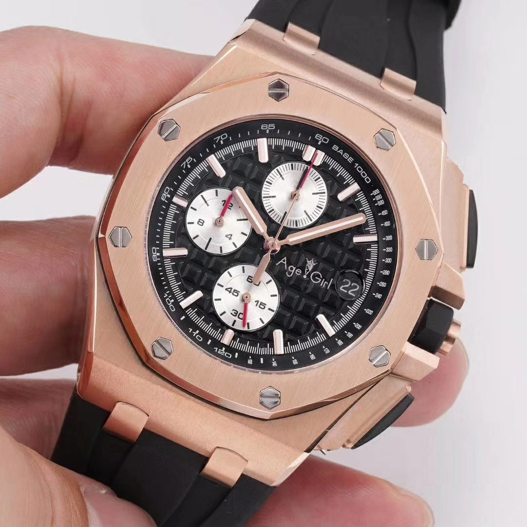 Luxury Brand New Men Watches Chronograph Sapphire Stainless Steel Black Rubber Rose Gold Silver Luminous Stopwatch 2019 LimitedLuxury Brand New Men Watches Chronograph Sapphire Stainless Steel Black Rubber Rose Gold Silver Luminous Stopwatch 2019 Limited
