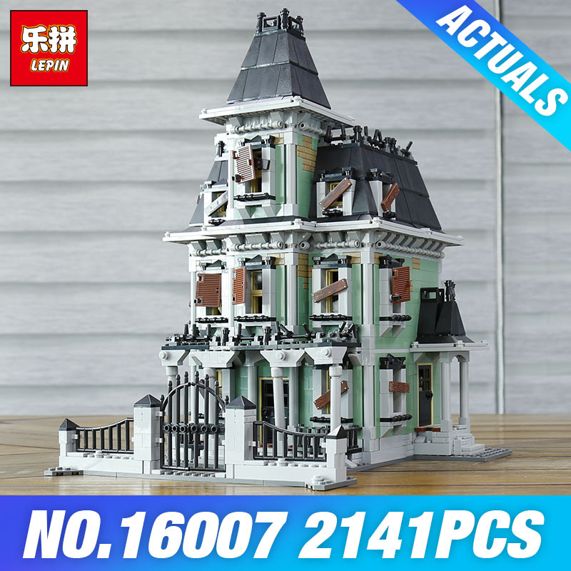DHL LEPIN 16007 Monster fighter 10228 The haunted house Toys Model Building set Blocks Bricks for Children DIY Educational Gifts 2141pcs the haunted house model set building kits block toy 16007 diy monster fighter educational blocks toys for children