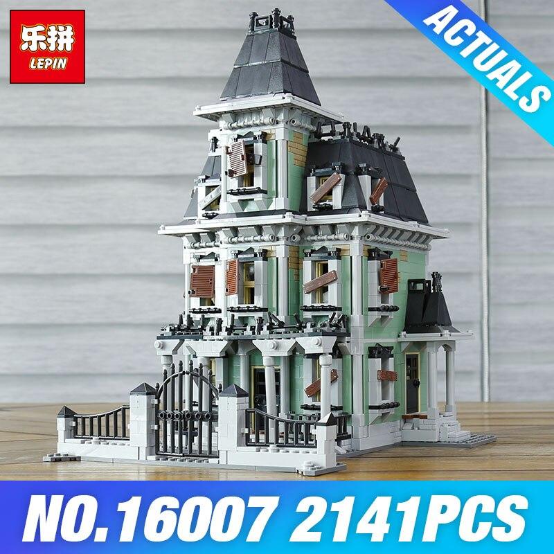 DHL LEPIN 16007 Monstre combattant 10228 La maison hantée Jouets Modèle Blocs de Construction Briques Enfants Éducatifs BRICOLAGE Halloween Cadeaux