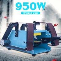 40x680 мм двухосевой шлифовальный ремень 950 Вт Настольный Электрический ремень болгарка для дерева пластик полировка металла с шлифовальным п