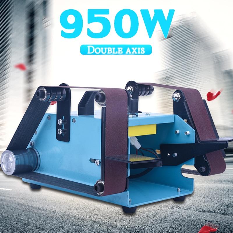 40x680mm Doppio Asse Cintura Levigatrice 950 w Banco Elettrico Cintura Disco Smerigliatrice Per La Plastica di Legno Lucidatura Dei Metalli con Nastro Abrasivo 220 v