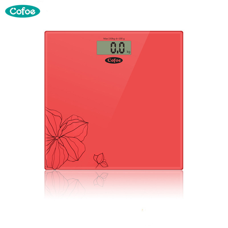Cofoe Precision Bath Bathroom Weight Scale Fitness Scales 330lb Digital LCD electric Glass Electronic Weighing high digital bathroom scales weight scale weighing scale floor scales household electronic body bariatric lcd display