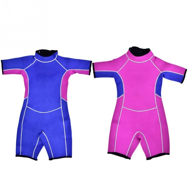 Neoprene Shorty Kids Wetsuit One Piece Diving Suit Warm Swimwear