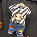 Minnie Mouse Venta Caliente Personaje Regular Pullover Niños Moda de Algodón Poliéster 2016 Nueva Verano de Los Niños Conjunto de Bandas Cabeza T-shirt