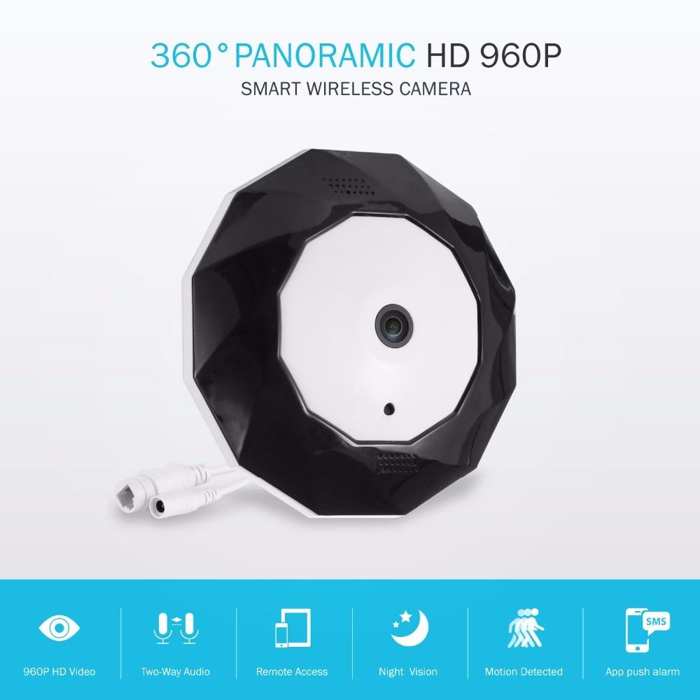 bilder für SANNCE 360 180-grad-panorama-kamera IP 960 P 1.3MP CCTV Home Security Ip-kamera Wifi Zwei-wege Audio WebCam SD Card Slot Digital PTZ