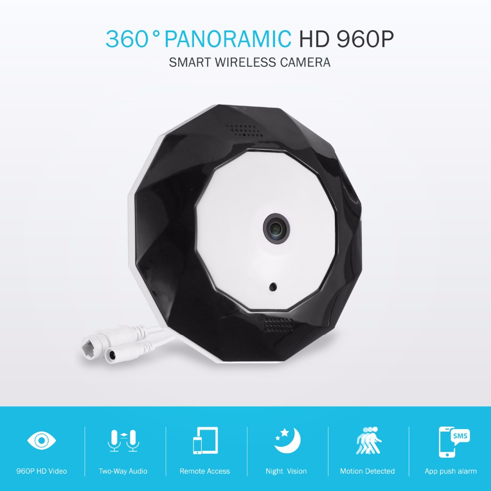SANNCE 360 Degree Panoramic Camera IP 960P 1 3MP CCTV Home Security IP Camera Wifi Two