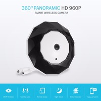 SANNCE 360 Degree Panoramic Camera IP 960P 1.3MP CCTV Home Security IP Camera Wifi Two Way Audio WebCam SD Card Slot Digital PTZ
